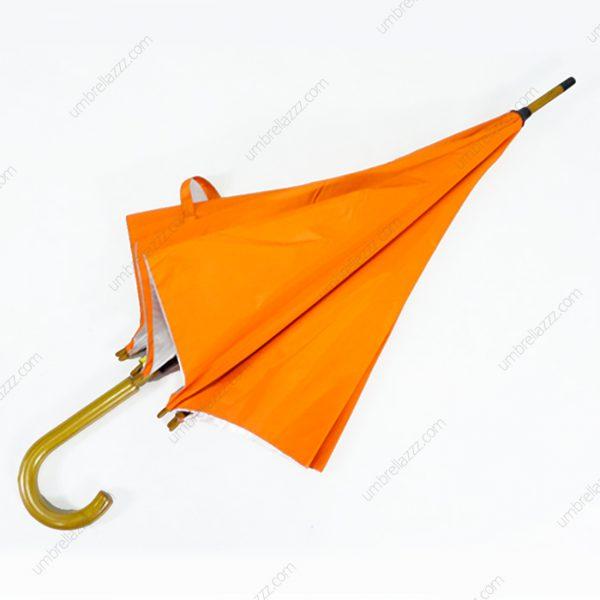 ร่มโครงไม้24นิ้วสีส้ม